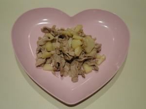 豚肉とリンゴのソテー