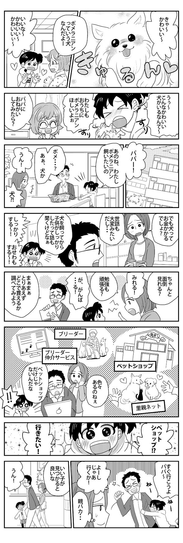 ポメラニアン漫画①